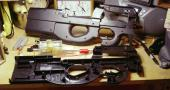 Airsoft P90 with internals removed